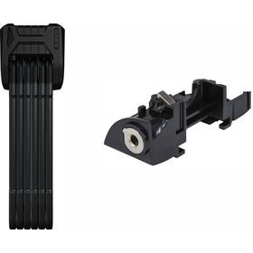 ABUS Bordo 6015/90 SH Foldelås + låsecylinder til Bosch Plus Frame-batteri, black